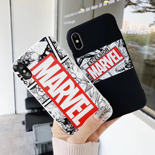 Hot American comics Captain Soft silicon cover case for iphone 6 S 7 7plus 8 8plus X 10 XR XS Max Marvel 3D relief phone coque(China)