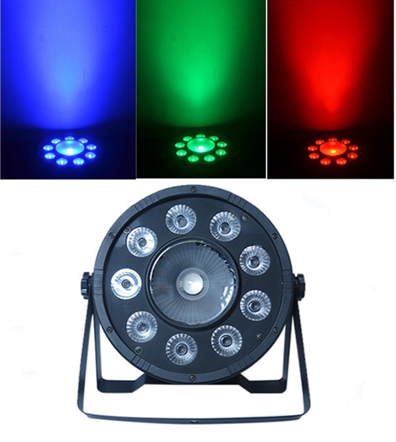 New Arrival Led Uplight 10PCS RGB LED DMX512 LED Flat PAR Can Stage Lighting for Wedding KTV DJ Disco Bar Party Show Lighting