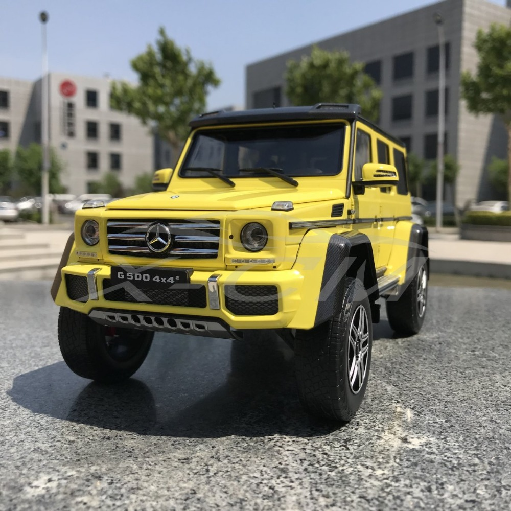 Diecast Car Model Almost Real for G Class 4x4 Yellow 1 18 SMALL GIFT