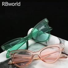 New Fashion Women Cat Eye Brand Retro Sunglasses Women Mirror Cheap Sun Glasses for Lady Cool Sunglasses oculos de sol Gafas