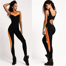 Women Summer Sportswear Pants Jumpsuit Backless Bodysuit Tight Yoga Gym Running Sport Fitness Set Jogging Tracksuit Trouser Sets