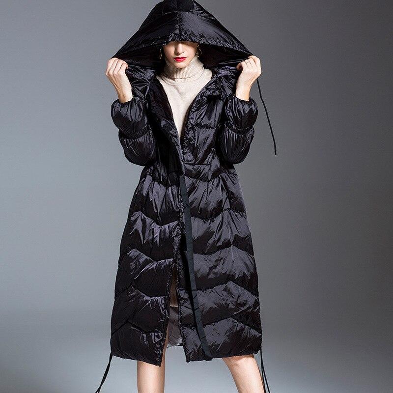 Пуховая куртка 2018 новые женские длинные хан издание развивать нравственность даже крышка белая утка вниз одежда Женская одежда