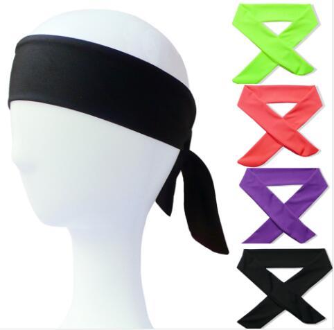 1pcs Cotton Tie Back Headbands Stretch Sports Sweatbands