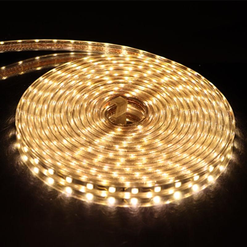 Image 4 - SMD 5050 AC 220V LED Strip Outdoor Waterproof 220V 5050 220 V LED Strip 220V SMD 5050 LED Strip Light 1M 2M 5M 10M 20M 25M 220V-in LED Strips from Lights & Lighting