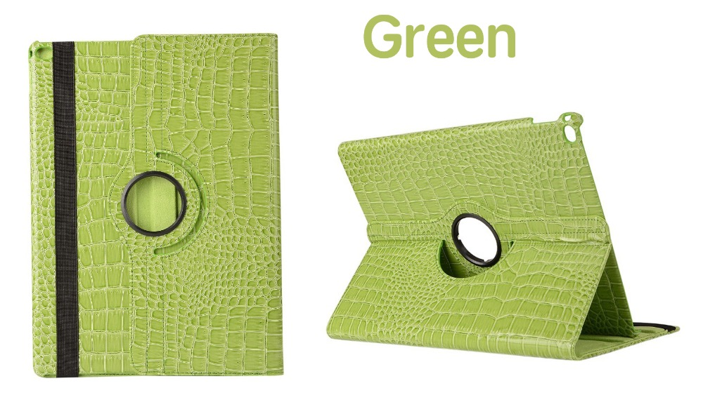 360 Rotation Crocodile PU Leather Protective Sleeve Rotary Cover Tablet Case For Ipad Air 1 Model A1474 A1475 A1476