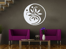 Ying Yang Flower Wall Stickers For Livingroom Moroccan Style Yoga Studio Interior Pattern Decal Meditation Home DecorSYY697