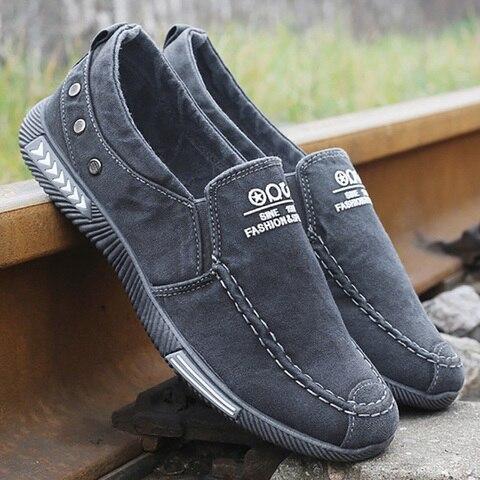 Men Vulcanize Shoes Comfort Men Shoes Male Shoes Adult Footwear Denim Canvas Shoes Men Loafers New Men Sneakers Chaussure Homme Karachi