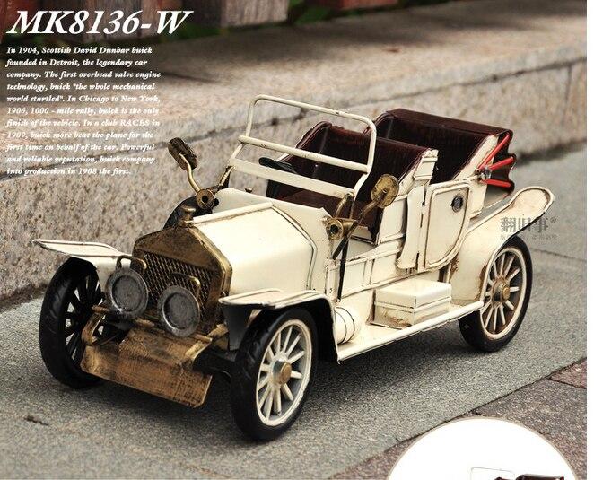 35 CM-Vintage fer métal TOP COOL Pure main rétro classique voitures modèle-maison bureau BAR haut style rétro décor art