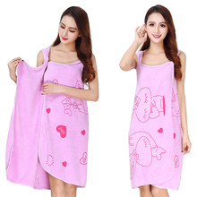2019 Hotest Bath Skirt for Hotel-Spa-Bedroom Lightweight Soft Absorbent With Lovely Cartoon Rabbit Pattern Skirt-5 Colours