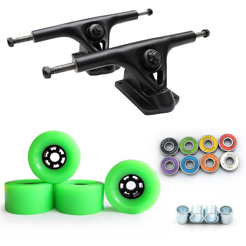 Nouveau 8 pouces Longboard camion 97*52mm 78A Skateboard roues planche à roulettes électrique grande roue route roue ABEC-9 roulements 270mm pont