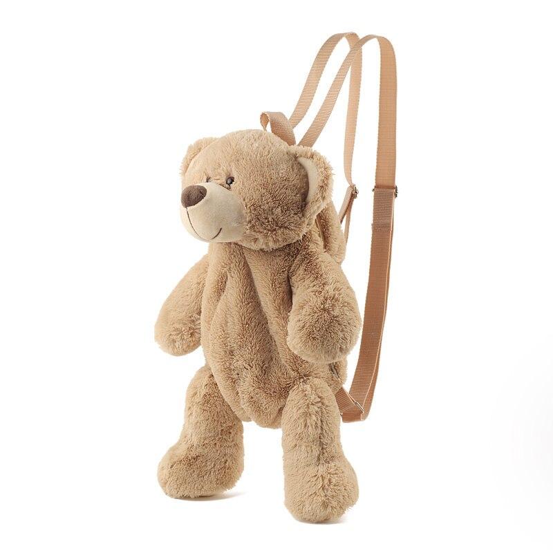 Backpack Female 2018 New Plush Doll Backpack Casual Bag Personality Cartoon Bear Bag B2305