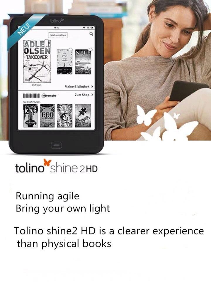 Tolino Shine 2-lector de libros electrónicos con luz integrada, WiFi, HD, e-ink, pantalla táctil de 6 pulgadas, 1024x1448, 300ppi
