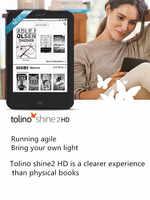 Tolino Shine2-Lector de libros electrónicos con luz integrada, WiFi, HD, e-ink, pantalla táctil de 6 pulgadas, 1024x1448, 300ppi