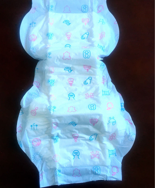 Free Shipping 60 Pads Cloth Like Outer Baby Print Adult Baby ABDL Disposable Incontinence Pads