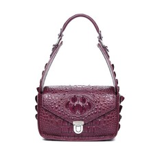 gete 2017 new sizzling freeshipping alligator pores and skin ladies purse ladies bag a one-shoulder bag crocodile purse