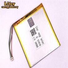 1,0 мм 5pin разъем 3,7 в 35100100 5000 мАч литий-полимерная батарея с pcm резервного питания планшетного ПК батареи