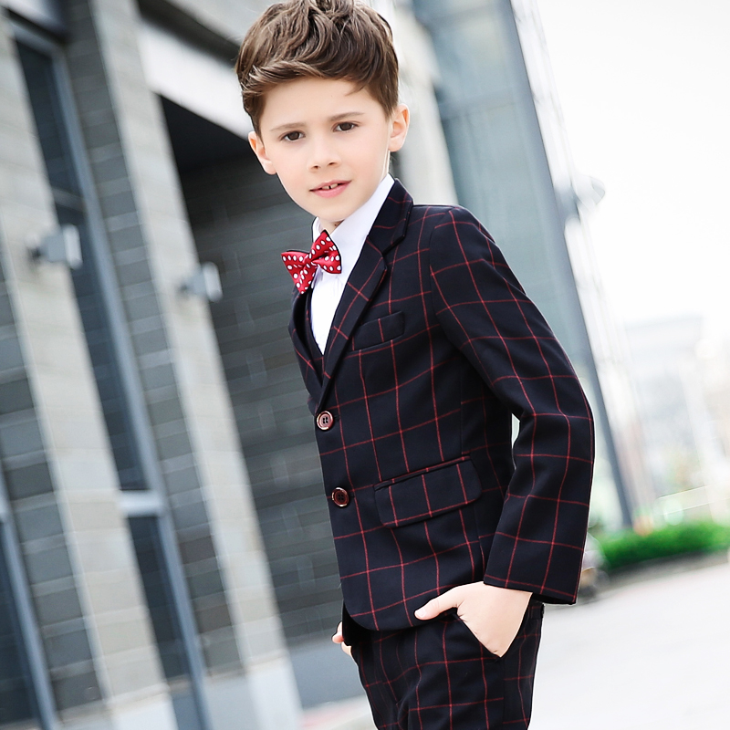 Boy 's Skirt Set Children' s Pants Suits Big Kids Korean Boys Piano Performance Services Spring