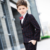 Men S Skirt Set Children S Pants Suits Big Kids Korean Boys Piano Performance Services Spring