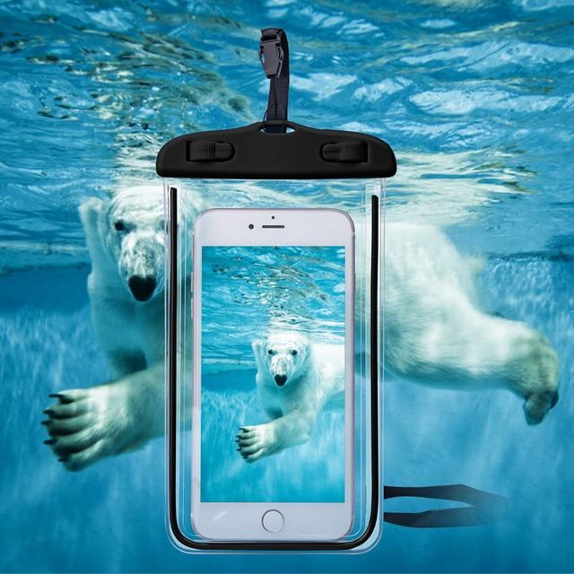 ユニバーサルカバー防水電話ケース iphone 7 6 S Coque ポーチ防水バッグケース S8 水泳防水ケース