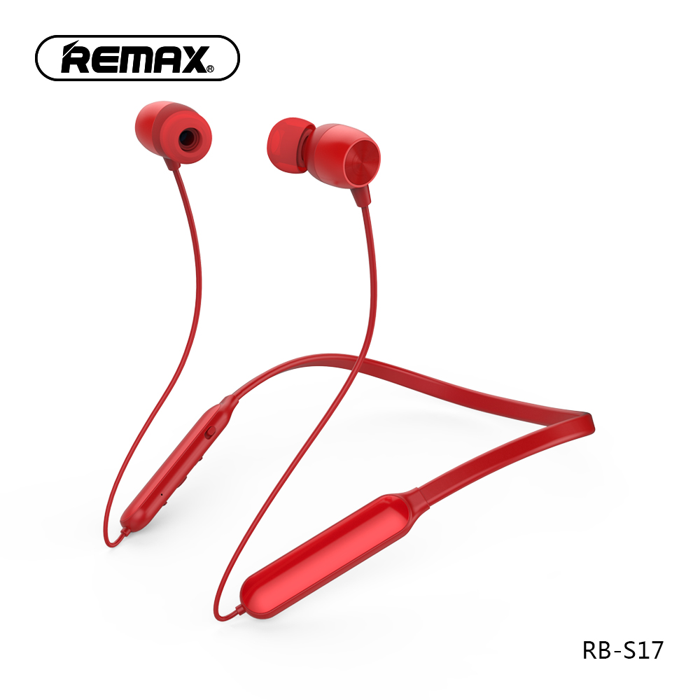 REMAX RB-S17 Neckband Sports Bluetooth Earphone Wireless Stereo Hanging In-ear Headphone for Xiaomi iphone Samsung цена 2017