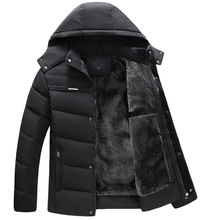 mannen kleding 2019 thick winter jackets for feather jacket men's hooded padded cotton detachable plus size velvet hooded jacket недорого