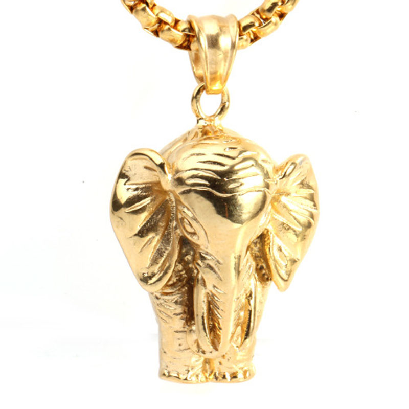 Mens hip hop necklace goldsilver plated lucky africa elephant mens hip hop necklace goldsilver plated lucky africa elephant pendant necklace elephant jewelry elephant charm animal necklace in pendant necklaces from aloadofball Gallery