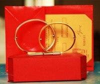 Luxury Titanium Steel Carter Love Bracelets Bangles Couple Screwdriver Unisex Fine Jewelry Pulseira Feminina Masculina With