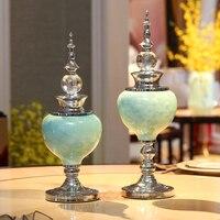 Европейская роскошная керамическая авторская ваза креативные подарки на день рождения свадебные настольные Предметы интерьера современн