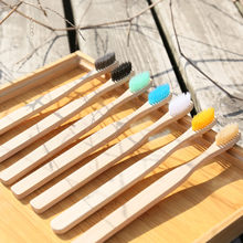 Eco Friendly Bamboo Toothbrush Bamboo Wood Toothbrush Nylon Bristles Can Be Carved Logo(China)