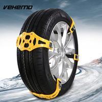 Vehemo 1 Pc Yellow Anti Skid Chains Snow Tire Belt Climbing Mud Ground Snow Chain Truck