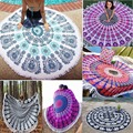 Indian Round Mandala Throw Hippie Women Scarves Bohemian Scarf Girl Wraps Tapestry Blanket Beach Towel Yoga Mat Wall Hanging 21