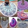 Indio hippie mandala tiro redondo mujeres bufandas bohemia bufanda de la muchacha wraps playa manta de yoga mat tapiz tapiz 21