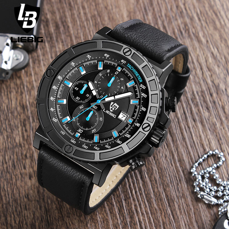 New Multiple Function Quartz Men Watch Military Army Men Stopwatch Waterproof Wristwatches Relogio Masculino Male Clock LIEBIG weide new men quartz casual watch army military sports watch waterproof back light men watches alarm clock multiple time zone