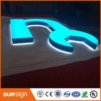 Высокие пользовательские акрил 3D сетчатый и светодиодной подсветкой буквы знак