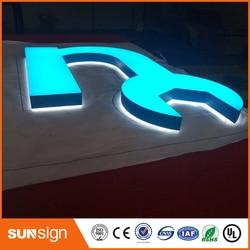 عالية مخصصة الاكريليك ثلاثية الأبعاد فرونتليت وإضاءة خلفية أحرف مضيئة ليد تسجيل