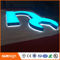 High Custom Acrylic 3D FrontLit and backlit Led Letters Sign