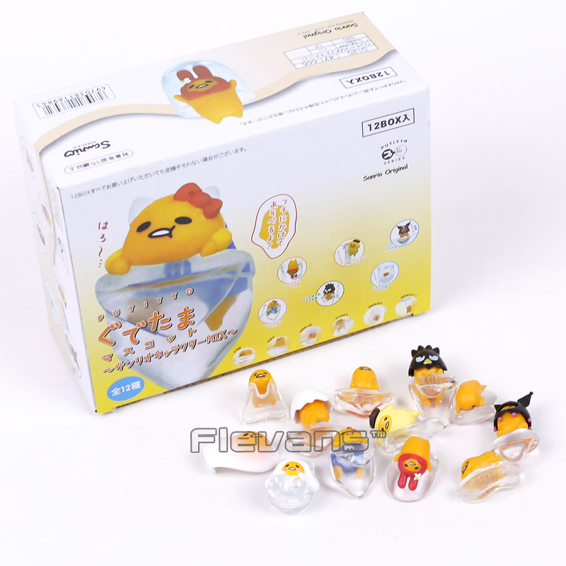 Cute Egg Gudetama PUTITTO Series Mini PVC Figures Collectible Model Toys Dolls 12pcs/set sonny angel mini pvc figures animal series version 4 baby toys dolls 12pcs set 8cm dsfg352