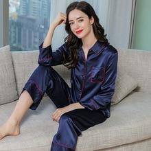 Real Silk Sleepwear Female Summer Long-Sleeve Two-Piece 100% Silkworm Silk Woman Pajama Sets Spring Autumn T77187 цена
