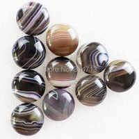 (Min.order 10$ mix) 10Pcs Beautiful Wholesale Black Onyx Agates Round CAB CABOCHON 19x6mm X670