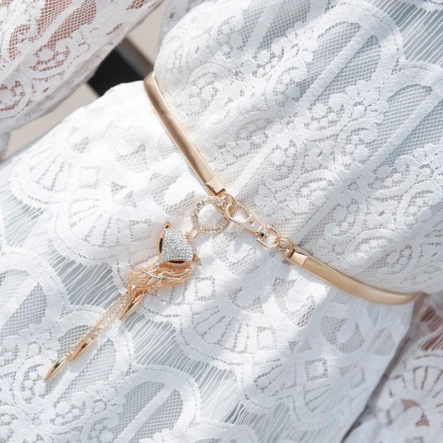 Multi 22 typů módní kov elastický Chian vintage ženy opasek list design sponu přední protáhnout kovový pas
