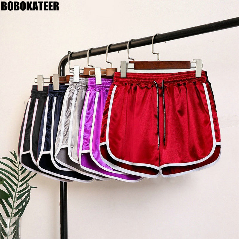 BOBOKATEER Fitness Shorts Women Red Plus Size Sexy Workou Short Mujer Casual Summer Black High Waist Femal Shorts Hot Pants 2019
