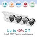 SANNCE HD 720P CCTV Security Cameras 4pcs1.0MP outdoor white Surveillance camera system with IR night vision for home protection