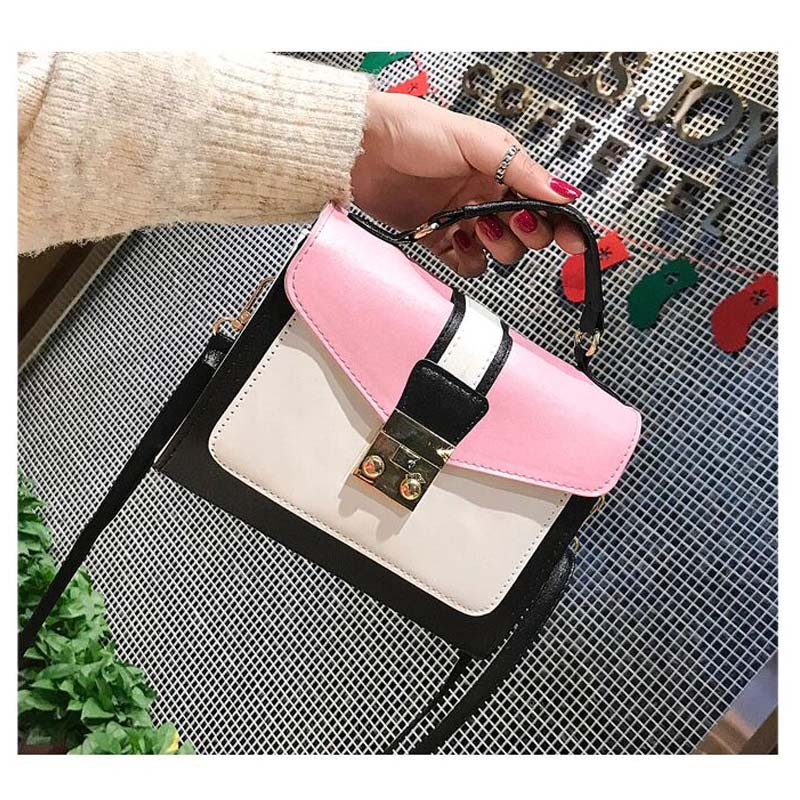 2019 New Girls Bag Fashion Handbag Matching Colors Female Messenger Bags Lady's Small Bags Casual Joker Single Shoulder Bag(China)