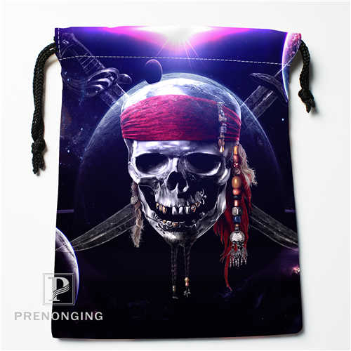 Custom Galaxy Skull Drawstring Bags Printing Fashion Travel Storage Mini Pouch Swim Hiking Toy Bag Size 18x22cm #171208-07