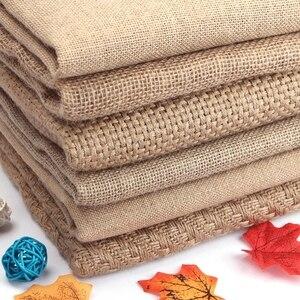 50x150 см, натуральный джутовый материал, мешковина для салфеток, скатерть, фоновое украшение, сетка, ткань из ворса, ткань Costura Stof