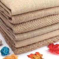 50x150 cm Jute naturel toile de Jute tissu pour napperons sacs nappe fond décoration maille Linnen Textile tissu Costura Stof