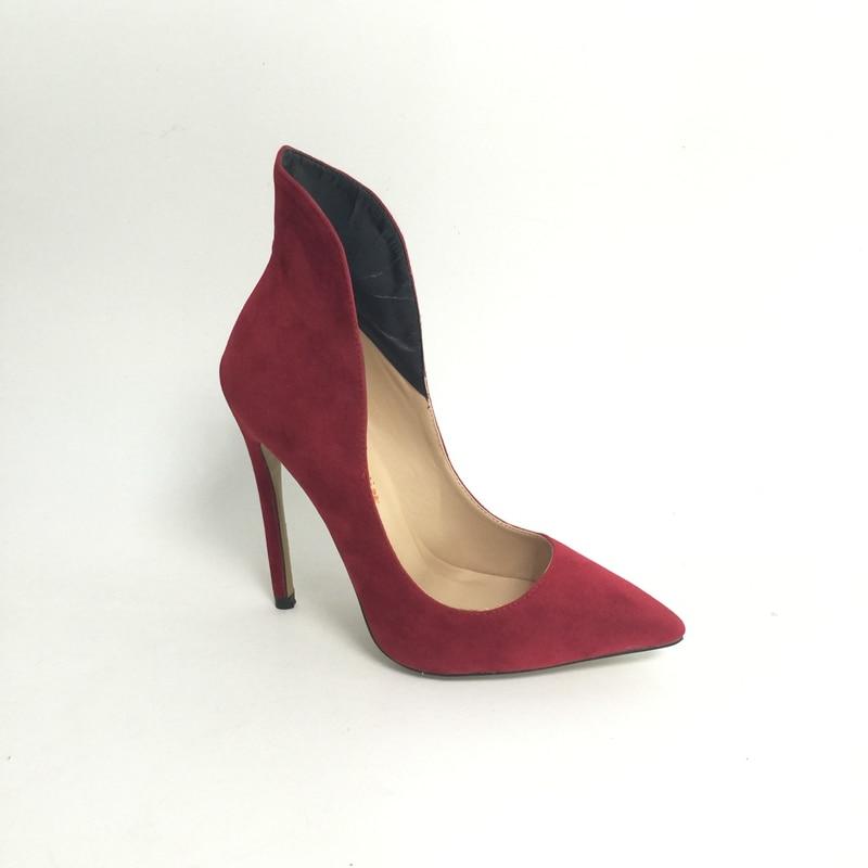 Bor Red Pointed Toe High Heels Női Cipő Plus Size Us14 Zapatillas - Női cipő