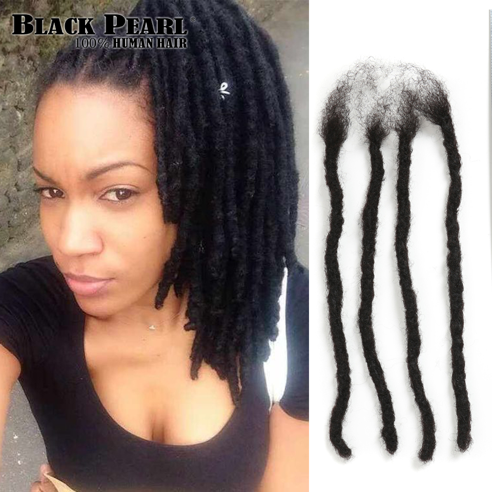 Black Remy Afro Kinky Curly Dreadlocks Crochet Braids 100% Human Hair Jumbo Dread Hairstyle Hand Made Dreadlocks Braiding Hair