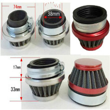 mushroom head motorcycle air filter waterproof Modified large flow for Inside diameter 38mm