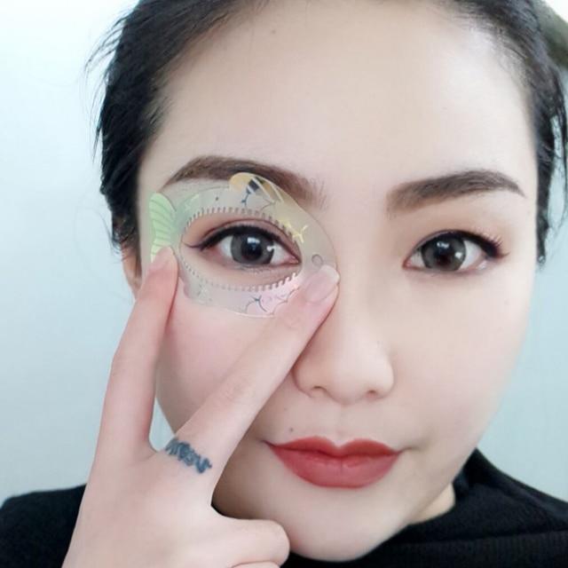New Fish Eye Makeup Beauty Eyeliner mold Stencils Women Cat Line Pro Eye Makeup Tool Eyeliner Stencils Template Shaper Model 1